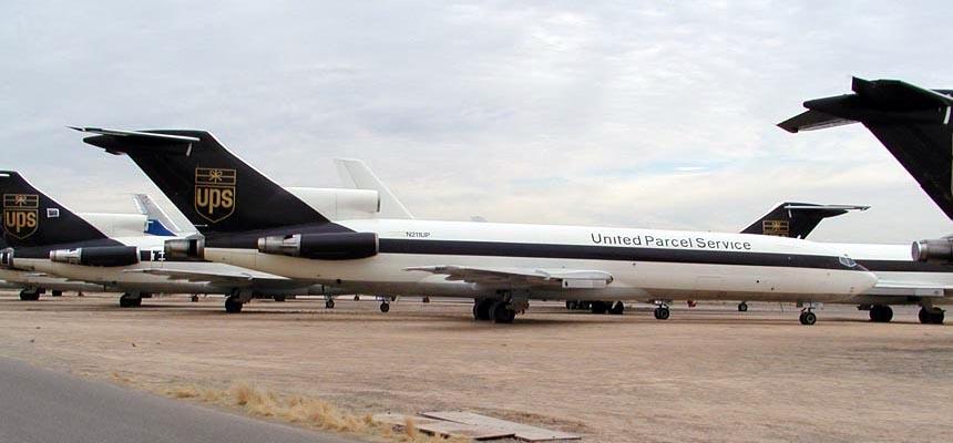 UPS Boeing 727's at GYR Goodyear